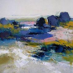 sélection de peintures représentatives #abstractart #LandscapeSea