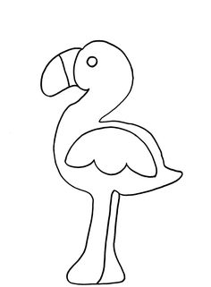 flamingo craft with pattern      Crafts and Worksheets for Preschool,Toddler and Kindergarten