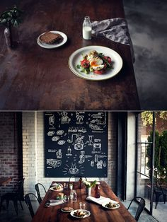 I like the chalkboard.  I also like the neutrals that still feel a little playful.