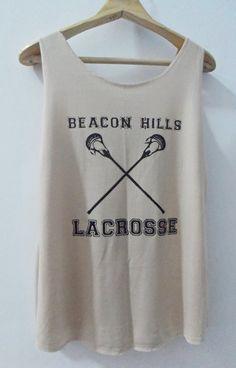 Teen Wolf Beacon Hills Lacrosse Tank Top Vest Women T shirt SizeS,M,L on Etsy, $15.00