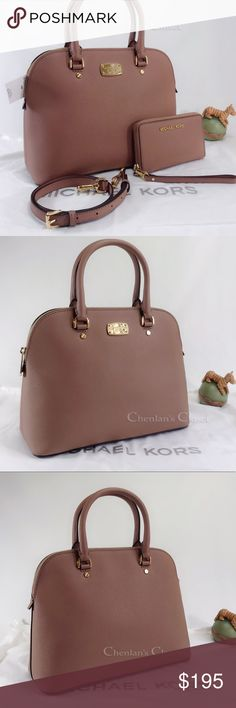 0c5b30a3d NWT Michael Kors Cindy Dome Dusty Rose & Wallet Gorgeous set! Dusty rose  color with