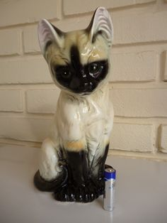Cat Ornament Siamese Kitten By JBG London Vintage | eBay