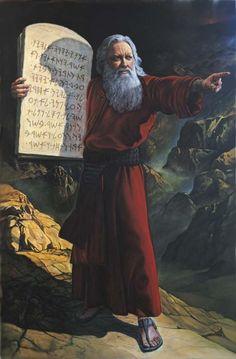 Os Dez Mandamentos escritos pelo dedo de Deus