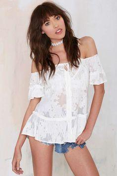 For Love and Lemons Piña Colada Off-the-Shoulder Top - Shirts + Blouses | For Love and Lemons | Off The Shoulder
