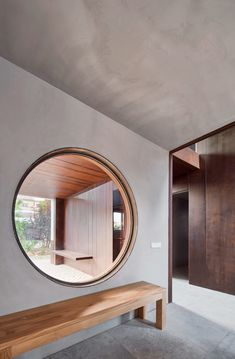 Gallery House In The North Of Spain Operates As A Small Hotel For A Nearby Winery - IGNANT Room Interior Design, Living Room Interior, Interior Decorating, Raul Sanchez, Journal Du Design, Huge Windows, Round Windows, Minimal Home, Corten Steel