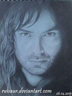 My drawing of Aidan Turner as Kili from the Hobbit.