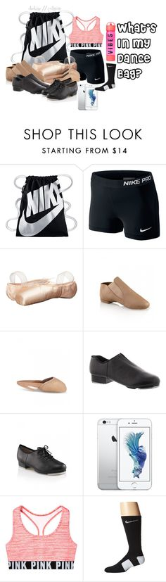 """""""What's In My Dance Bag"""" by ohxkaye ❤ liked on Polyvore featuring NIKE and Sansha"""
