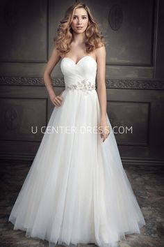 7771914d00e4 US$230.29-A-Line Sweetheart Tulle Wedding Dress Wedding Dress under $200 # affordable #200 #2016 #sale