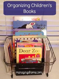 How we organize our Baby's Books