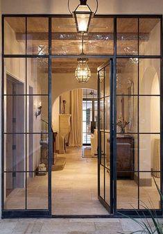 Iron Front Door, Front Door Entrance, Glass Front Door, Iron Doors, Sliding Glass Door, Entry Doors, Exterior Doors, Glass Doors, Front Porch