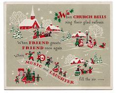 Christmas Card Hanukkah Houses And New Year Retro