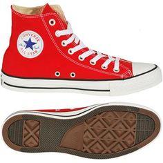 Converse Boty Kotníkové Converse Chuck Taylor All Star červená bílá velký Chuck  Taylors 1cc80e05a0