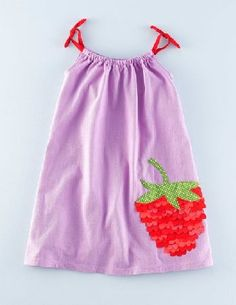 Mini Boden Summer Embellished Dress Bell Flower Strawberry This lightweight dress is made of supersoft cotton jersey and features two appliqué options: 3D strawberry or glittery rainbow. Want to know a fun fact? The rainbow option has over 8,000 sequins (and http://www.MightGet.com/april-2017-1/mini-boden-summer-embellished-dress-bell-flower-strawberry.asp