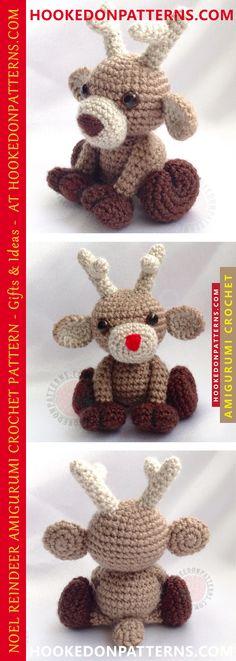 FREE Reindeer Crochet Patterns   Pinterest   Reindeer ornaments ...