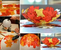 Autumn Leaf Bowl Craft Is A Super Easy DIY