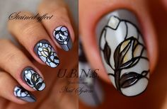 #ujvaribarbara #vitrázs, köröm#műköröm #nailart #nails #handmade #salonnail #flower #shortnails #stained