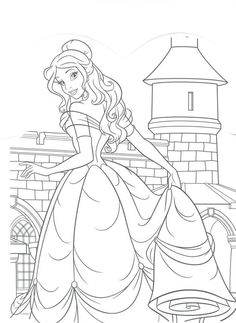 Character Drawing Coloring Pages Disney People Art Princesses