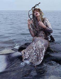 Kristen McMenamy by Tim Walker for W Magazine December 2013