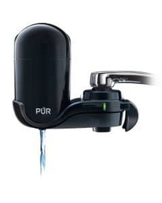 Water Filter For Kitchen Sink Or Bathroom Vertical Faucet Mount Black Filtration