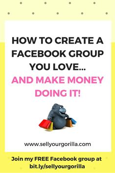 Have you been thinking of starting a Facebook group....but you're not sure it's right for you?   OR  Do you already have a group and it's not quite what you thought it would be?    Either way....www.sellyourgorilla.com can help!  Join my FREE Facebook group at bit.ly/sellyourgorilla Free Facebook, Things To Think About, How To Make Money, Join, Thoughts, Engagement, Group, Engagements, Ideas
