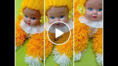 Como fazer bonecas de lã