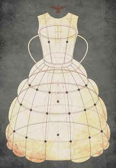 the geometry of the formal gown | tracciamenti #design #illustration