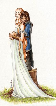 Tauriel and Kili by CaptBexx.deviantart.com on @deviantART I'm finding it hard to find images that show Kili as a father, but I'm happy to settle for one of  Kili and Tauriel instead of Reese.