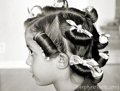 This is how my Mom would curl my hair to get the long loose curls.  She would use old sheets torn into strips.