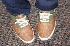 Sparkle DIY Shoes with Mod podge!