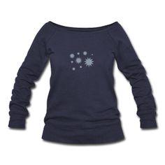Stars & Snowflakes  Womens Wideneck Sweatshirt  Women's Wideneck Slouchy Sweatshirt, 50% polyester/37.5% cotton/12.5% rayon. Brand: Bella