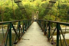 Small suspension bridge