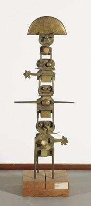 Pierre Caille : Généalogie Bronze Signature et date, au dos, en bas : 1961 Pierre Caille Dimensions : 146 x 54 x 24,8 Origine : Acquis de l'artiste, Bruxelles, 1963