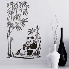 Orsi panda bambù - adesivi murali #panda #adesivi #decorazione  #StickersMurali