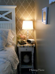 homey home design: Master Bedroom Wall Project