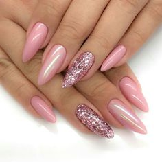 acrylics, pink nails, and nails image