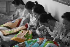 #quilt #handmade #Vietnam #socialbusiness #development Social Business, Vietnam, Quilts, Handmade, Women, Decor, Decoration, Comforters, Hand Made