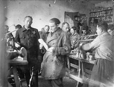 Jews at work in a shoe factory in the Minsk ghetto