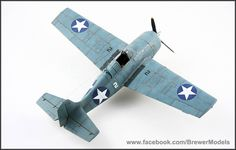 F4F-4 Wildcat scale model airplane by Brewer Models. Tamiya 1:48 scale. Pinned by #relicmodels