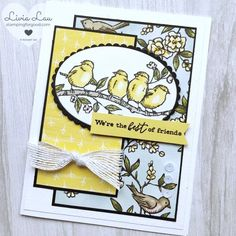 Hand Sentiments Sketch Challenge with 'Free As A Bird' Learn how to make a card using Stampin' Up's stamps and other paper products. It's simple and easy to do. Get inspired with ideas and see how to handmade your own projects here. Friendship Cards, Cards For Friends, Friend Cards, Stamping Up Cards, Bird Cards, Animal Cards, Card Sketches, Copics, Paper Cards