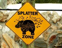 Splatter zone.