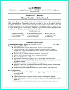 awesome what objectives to mention in certified pharmacy technician resume check more at http - Resume For Pharmacy Technician