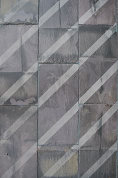'Sunlight' salvaged slate tile with engraved pattern. #danielheath #danheathstudio #diagonal #pattern #surface #surfacedesign #interiors #tiles #walltiles #salvage #eco #stripe