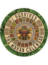 I Survived Mayan Calendar Peel N Place Sticker - Party City Get The Party Started, I Survived, Character Costumes, Birthday Wishlist, Party Stores, End Of The World, Best Part Of Me, Shirt Designs, Calendar