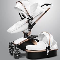 AULON Baby Stroller  360 baby stroller including baby sleeping basket 0~36 months golden frame baby car 2 in 1 baby stroller