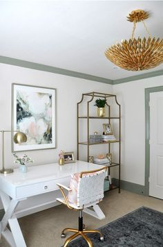 Feminine Home Office French Country Home Office Dcor Ideas Shelterness. 40 Floppy But Refined Boho Chic Home Office Designs DigsDigs. 21 Farmhouse Home Office Designs Decorating Ideas . Home Design Ideas Home Office Furniture, Interior, Feminine Home Offices, Home Office Lighting, Modern Office Decor, Home Decor, House Interior, Interior Design, Office Design