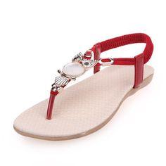 Rot Sommer Sandalen Mit EULE