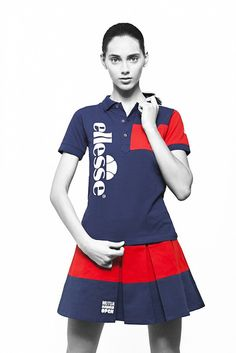 ellesse x Surface To Air kit collaboration for ball kids at the Mutua Madrid Open.  #tennis