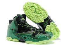 the best attitude ea9ec c0a9d Nike Lebron 11 PS Elite Dark Green Volt Black 616175 com have all Cheap For  Half Off