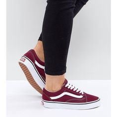 c8d47af747b5 Vans Old Skool Unisex Trainers In Burgundy ( 91) ❤ liked on Polyvore  featuring shoes