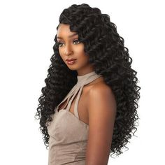 Sensationnel Lulutress Crochet Braid - Deep Wave Soft Texture and Natural Luster Long-Lasting Natural Curl Easy Styling and Maintenance Affordable Price Color Shown: JET BLACK Natural Curls, Natural Hair Styles, Long Hair Styles, Crochet Braids Hairstyles, Braided Hairstyles, Dreads, Blond, French Braid Ponytail, Braid Hair